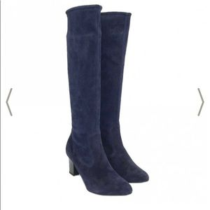 Peter Kaiser Knee High Pull on Boots in suede